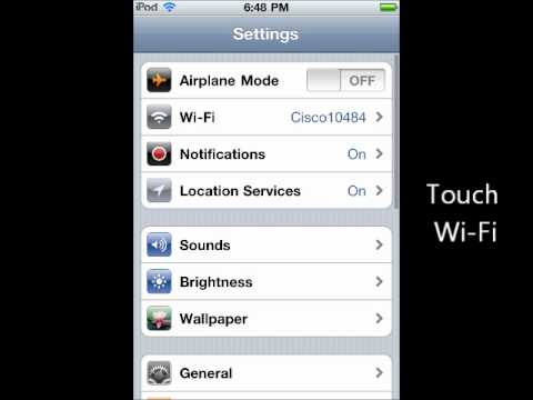 how to connect to wi-fi with your ipod touch