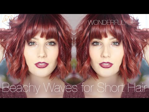 HAIR STYLES FOR SHORT HAIR: BEACHY WAVES WITH GHD'S | Wonderful You