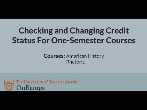 OnRamps - Credit Accept/Decline for One-Semester Courses