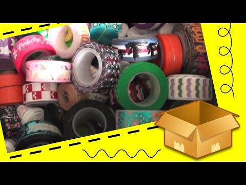 Filling a box full of ribbon and shipping it off! / Reverse ribbon haul