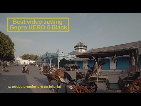 best setting video for Gopro Hero 5 black  w/ premier pro CC tutorial