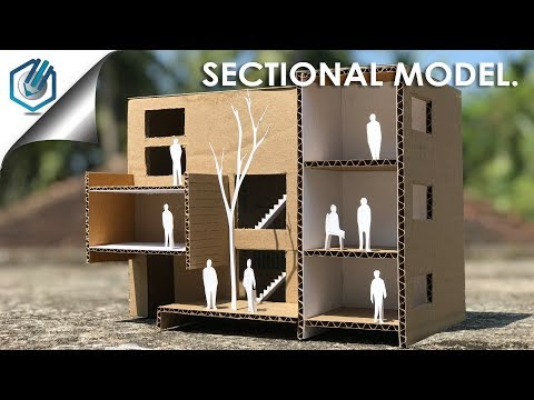 How to make architecture building section model- out of cardboard-