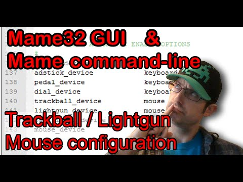 MAME Command-line & Mame32: Configure Mouse for Trackball and Lightgun