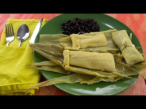 Mini Cheesy Corn Tamales - Easy Quick Vegan