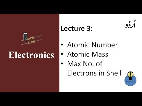 Lecture 3: atomic number atomic mass, how to find the maximum number of electrons in a shell in urdu