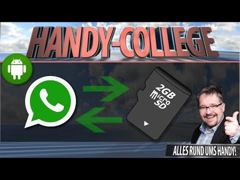 WhatsApp BACKUP auf SD-Card ☛ CHATS ÜBERTRAGEN, SICHERN & WIEDERHERSTELLEN Android | Tutorial