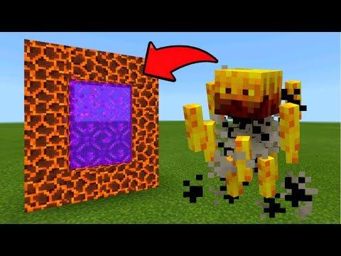 Minecraft Pe How To Make A Portal To The Blaze Dimension - Mcpe Portal To The Blaze!!!