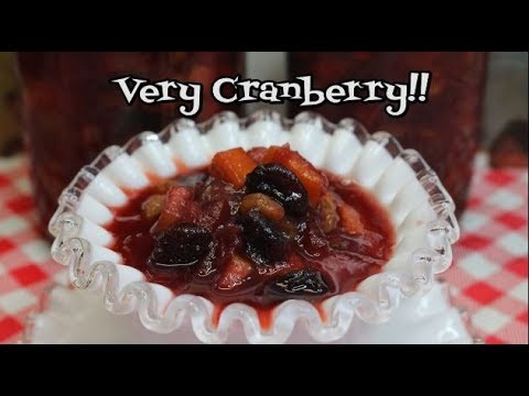 Sweet Cranberry Chutney ~  Make Ahead Thanksgiving ~Cranberry Sauce Recipe ~  Noreen's Kitchen