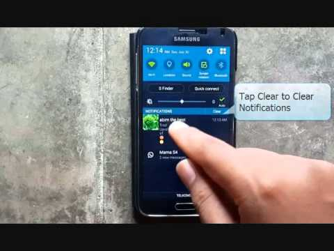Samsung Galaxy S5 : How to Clear Notification (Android Phone)