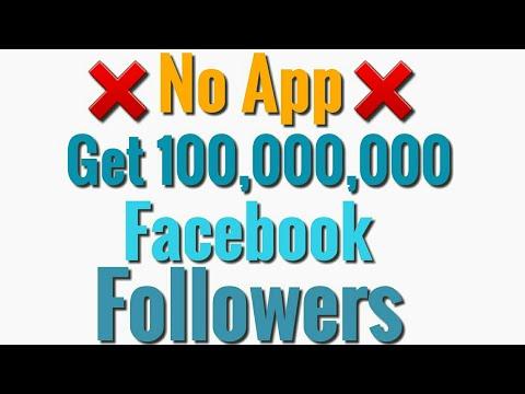 No App Get 100,000,000 Facebook Followers 100% Working Trick
