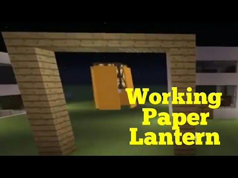 Minecraft : How to make a working paper lantern