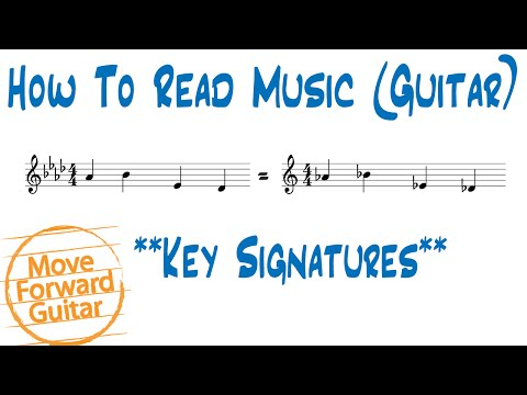 How to Read Music (Guitar) - Key Signatures