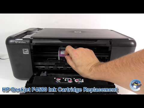 HP Deskjet F4580: How to Replace Ink Cartridges