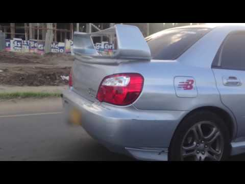 Incredible Subaru STi Exhaust Sound - POP+Crackle