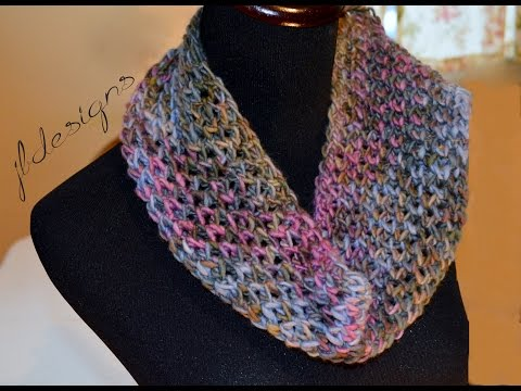Loom Knit Modified Diamond Lace Scarf
