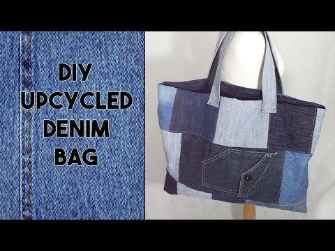 DIY: Recycled: How to make a Denim Bag 👜 - Craftbrulee