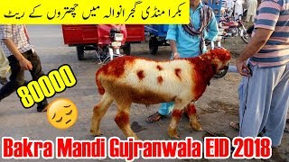 Bakra Mandi Gujranwala - Chatron ki Prices bht zada -  Eid 2018