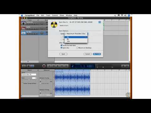 What's New in GarageBand 08 - Burn Songs to CD without iTunes
