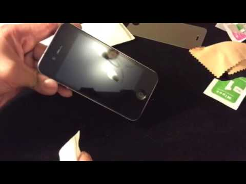 How To Install iPhone 4/4s Tempered Glass Front Screen Protector & other iPhones
