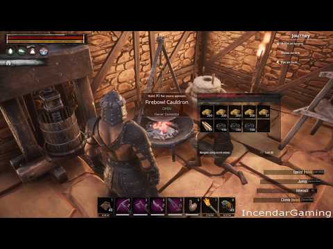 How to make Steel and get the ingredients Brimstone Hide Tar for Steelfire Iron Bar in Conan Exiles