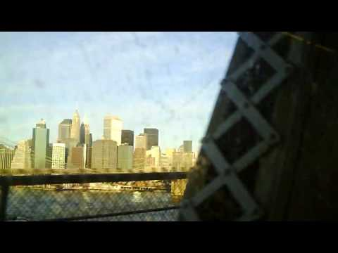 Subway from Manhattan to Brooklyn. You can see Brooklyn Bridge .