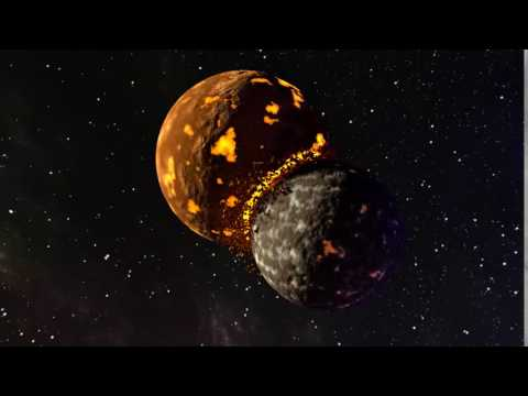 Planets Colliding - Made with Blender