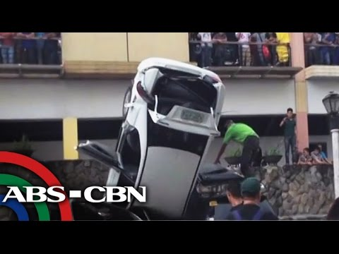 The story behind the car that fell off a Greenhills building
