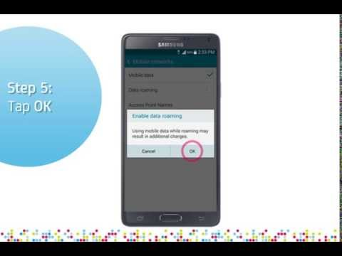 Samsung Galaxy Note 4: Turn on/off data roaming services