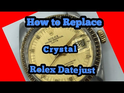 How to replace a crystal Rolex 1601, 1505, 16013,1500