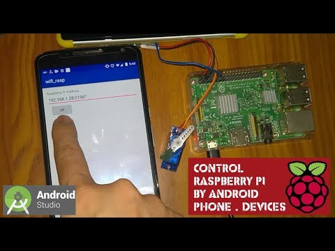 Raspberry Pi Control Servo Motor By Android Smartphone over wifi   Android Studio