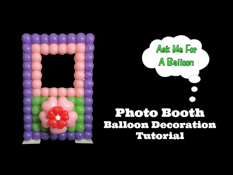 Photo Booth Balloon Decoration Tutorial