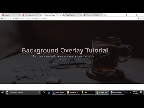 how to add transparent background - HTML & CSS
