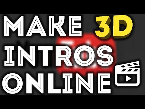 How To Make Free 3D Intro Online In Smartphone For YouTube ! In Hindi