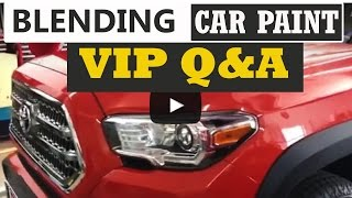 Learn Auto Body VIP Member Question on Blending Car Paint and Repairing Burn Marks from Buffing