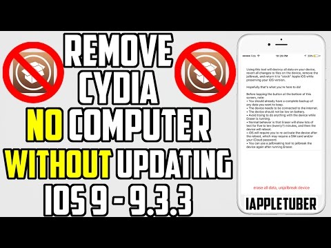How to Unjailbreak / Remove Cydia (No Computer & Without Updating) iOS 9 - 9.3.3
