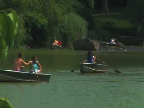 Central Park Lake Rowboats Rowing Boats Boating Rental from Boathouse Manhattan New York City NYC