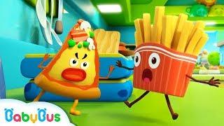 Kentang Goreng vs Pizza Nakal | Es Krim, Belajar Warna | Lagu Anak-Anak | Kartun Anak | BabyBus