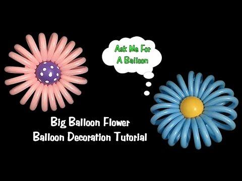 Big Balloon Flower - Balloon Decoration Tutorial