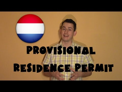 Netherlands #5 - Provisional residence permit