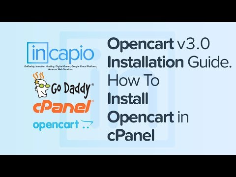 Opencart v3.0 Installation Guide | How To Install  Opencart in cPanel | GoDaddy | 2018