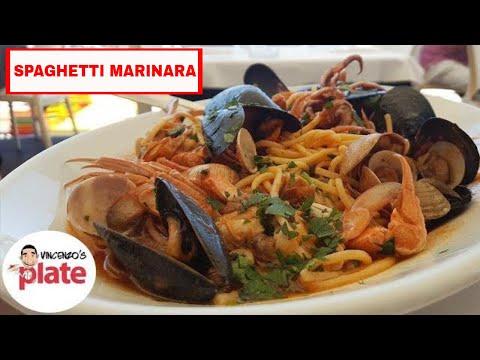 SPAGHETTI ALLO SCOGLIO | Seafood Spaghetti Marinara Recipe | How to Make Pasta Marinara