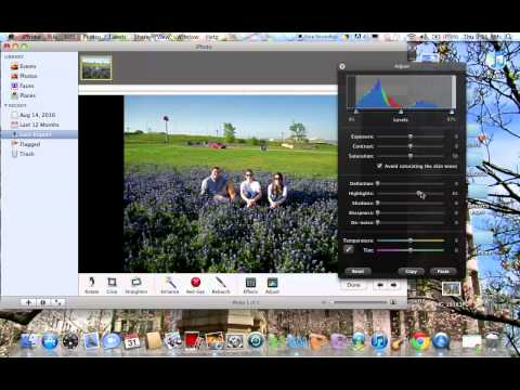 How to edit photos in iPhoto
