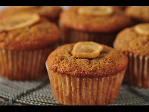 Whole Wheat Banana Muffins Recipe Demonstration - Joyofbaking.com