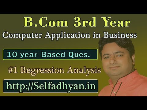 #1 Regression Analysis - Exam Question - BCOM 3rd Year - Computer Application in Business with PDF