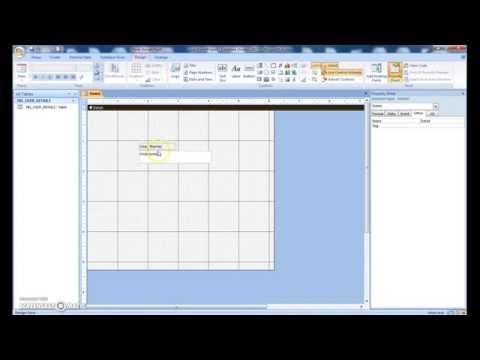 Create Login Form with Advance Design in Microsoft Access 2007 - Part 1