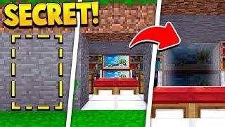 Even MORE New SECRET Minecraft Rooms! (100% HIDDEN!)