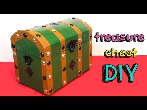 EASY CRAFTS DIY - TREASURE CHEST FOR ROOM DECOR