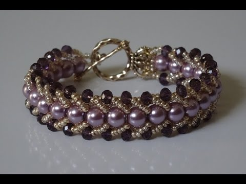 How to make a beautiful and easy pearl bracelet- flat spiral stitch