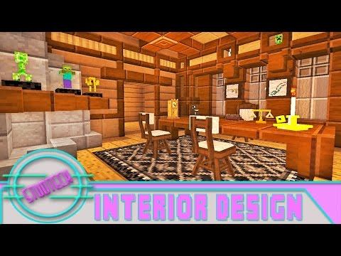 Modded Minecraft:  Interior Furniture Designs For An Office (StudTech Ep.21)