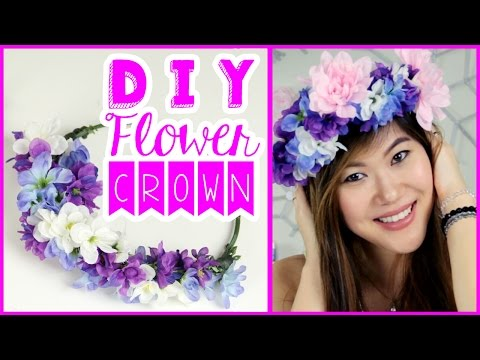 DIY Flower Crown Tutorial Using Dollar Tree Crafts Supplies to Wear to A Music Festival